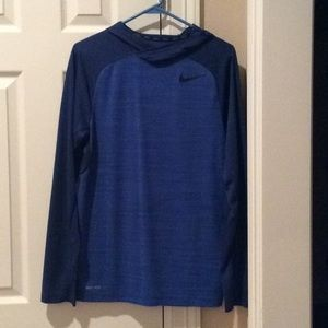 Men's Nike Dri Fit hooded shirt